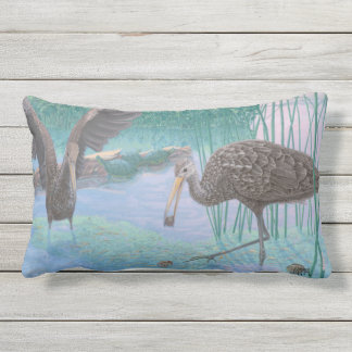 Florida Limpkins And Apple Snails Lumbar Cushion