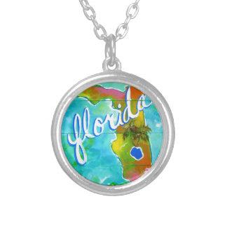 Florida Logo Silver Plated Necklace