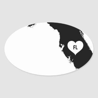 Florida Love Oval Sticker