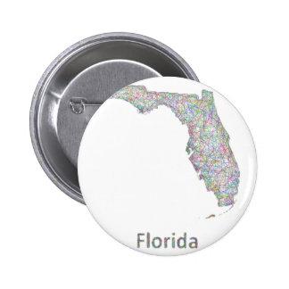 Florida map 6 cm round badge