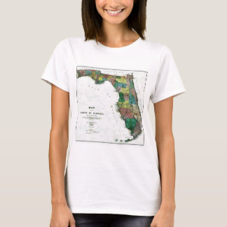 Florida Map and State Flag T-Shirt