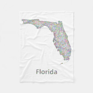 Florida map fleece blanket