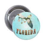 Florida Map With Lovely Birds 6 Cm Round Badge