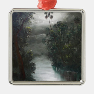 Florida Misty RIver Moss Metal Ornament