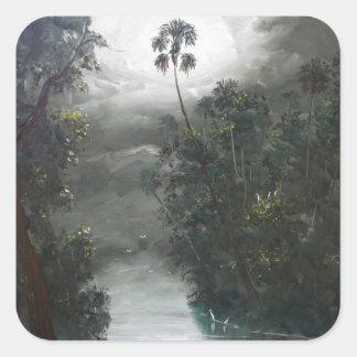 Florida Misty RIver Moss Square Sticker