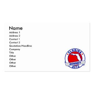Florida Mitt Romney Pack Of Standard Business Cards