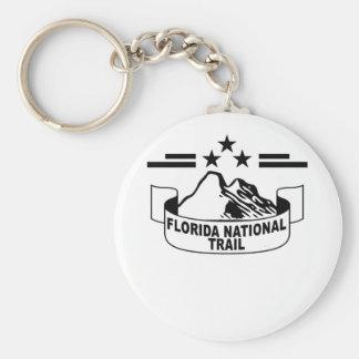 Florida National Trail T-Shirt ;' Basic Round Button Key Ring