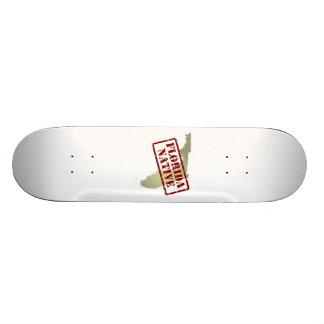 Florida Native Stamped on Map Skate Boards