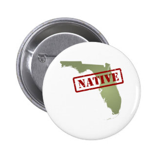 Florida Native with Florida Map 6 Cm Round Badge