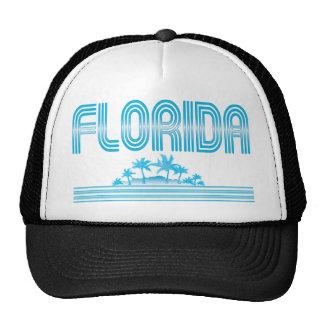 Florida Neon Palm Trees AQUA Cap