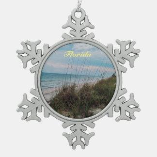 Florida Ocean Beach Side Ornament