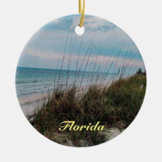 Florida Ocean Seaside Scene Ceramic Ornament
