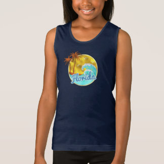 Florida, Ocean wave, Palm Trees Singlet