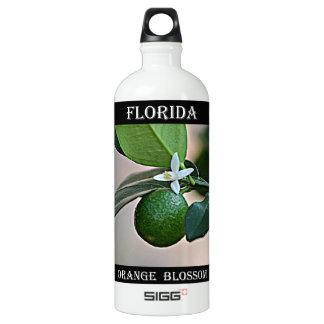 Florida Orange Blossom and small Orange SIGG Traveller 1.0L Water Bottle