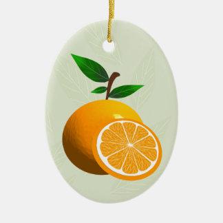 Florida Orange Ceramic Ornament