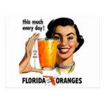 Florida Orange Juice Postcards