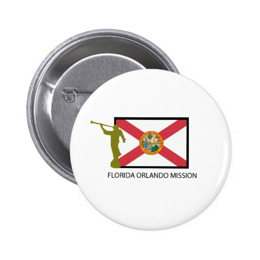 FLORIDA ORLANDO MISSION LDS CTR PINBACK BUTTONS