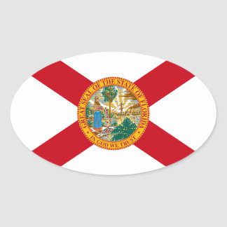 Florida Oval Flag Sticker
