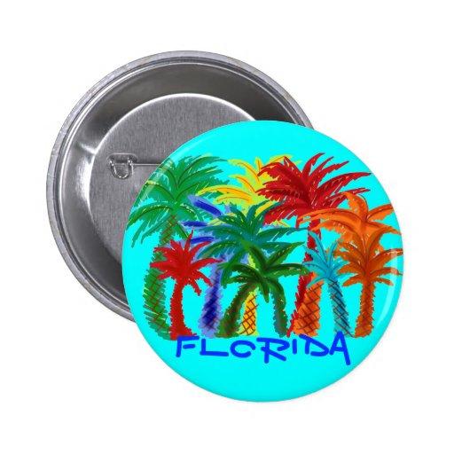 Florida palm tree button