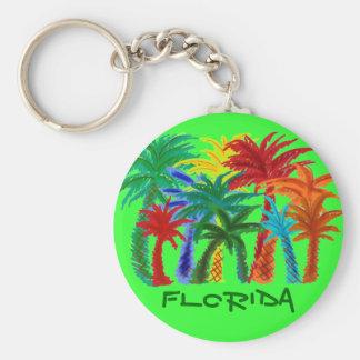 Florida palm tree keychain