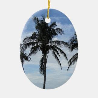 Florida Palm Trees Ceramic Ornament