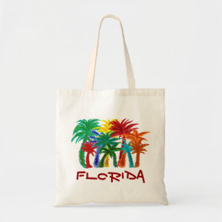 Florida palm trees reusable bag