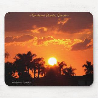 Florida Palm Trees Sunset Mousepad