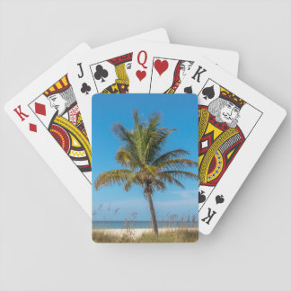 Florida palmtree beach playing cards