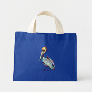 Florida Pelican by Robert Phelps Mini Tote Bag