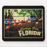 Florida Pink Flamingos Mouse Pad