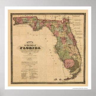 Florida Railroad Map 1874 Poster