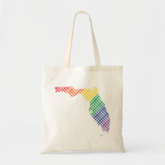 Florida Rainbow State Tote Bag
