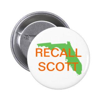 FLORIDA, RECALL SCOTT 6 CM ROUND BADGE