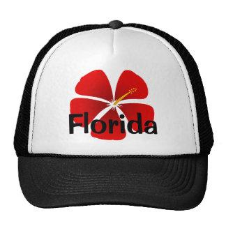 Florida Red Hibiscus Flower Ball Cap