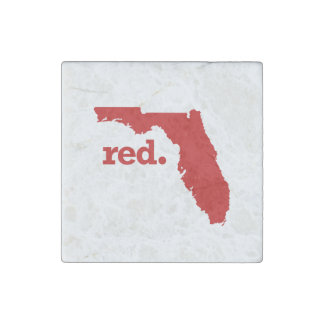 FLORIDA RED STATE STONE MAGNET