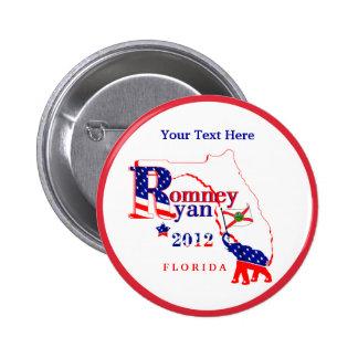 Florida Romney and Ryan 2012 Button - Customize 2