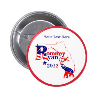 Florida Romney and Ryan 2012 Button - Customize