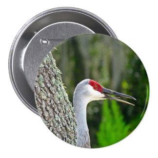 Florida Sand Hill Crane Round Button