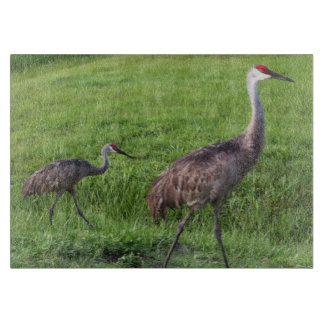 Florida Sand Hill Cranes Cutting Board