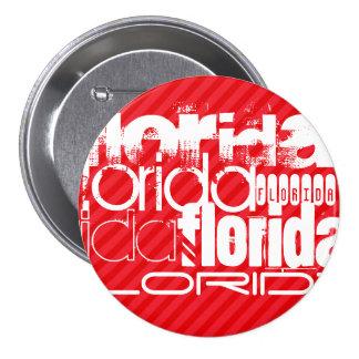 Florida; Scarlet Red Stripes 7.5 Cm Round Badge
