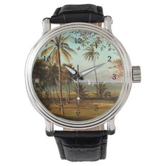 Florida Scene - Painting by Albert Bierstadt Watch