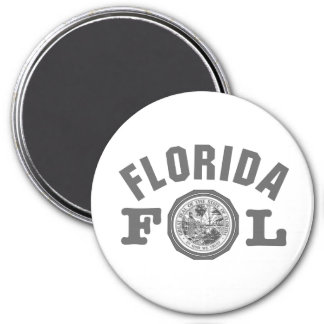 Florida Seal 7.5 Cm Round Magnet