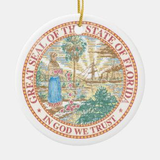 Florida Seal Ceramic Ornament