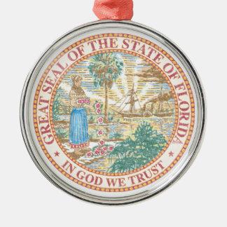 Florida Seal Metal Ornament