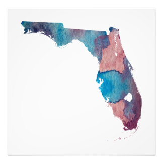 Florida Silhouette Photo Print
