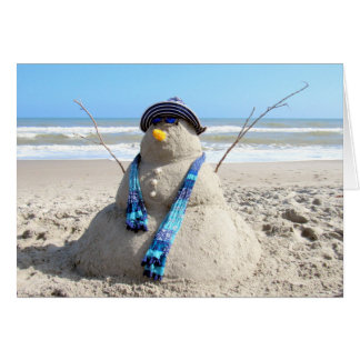 Florida Snow Woman (3235) Christmas Card