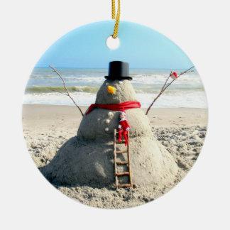Florida Snowman Ornament