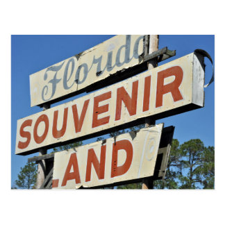 Florida Souvenir Land Vintage Sign Postcard