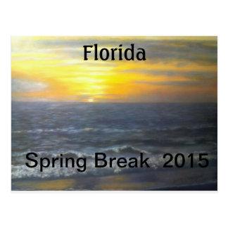 """FLORIDA SPRING BREAK POSTCARD 2015"""