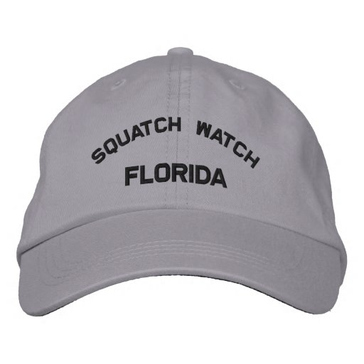 Florida Squatch Watch Embroidered Cap Embroidered Hats
